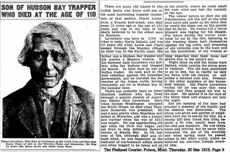 Pierre Laverdure, son of Hudson Bay Trapper. Metis Cree