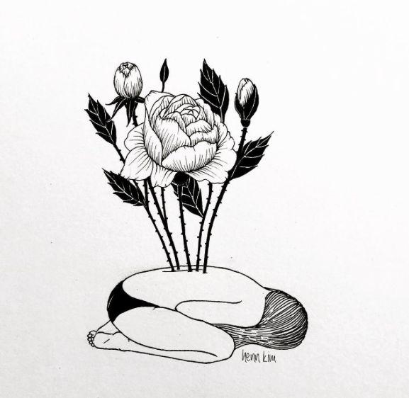 henn kim ink illustration