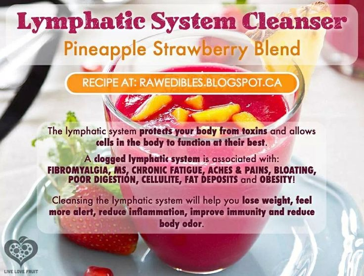 Lymphatic System Cleanser Strawberry Pineapple Blend Poor Digestion Smoothie Mix Liver