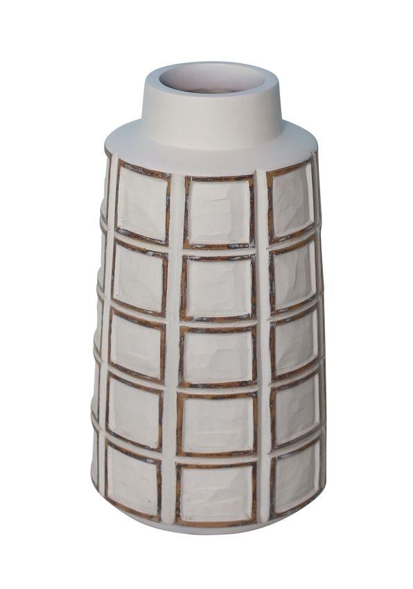 Resin Grid Pattern Vase Vase Bottle Jar