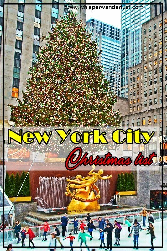 New York City   Manhattan   Christmas in NYC   Christmas in Manhattan   Rockefeller Center Christmas   NYC Christmas Tree   Wollman Rink Christmas   Central Park Christmas   Christmas in New York City   what to do at Christmas in New York