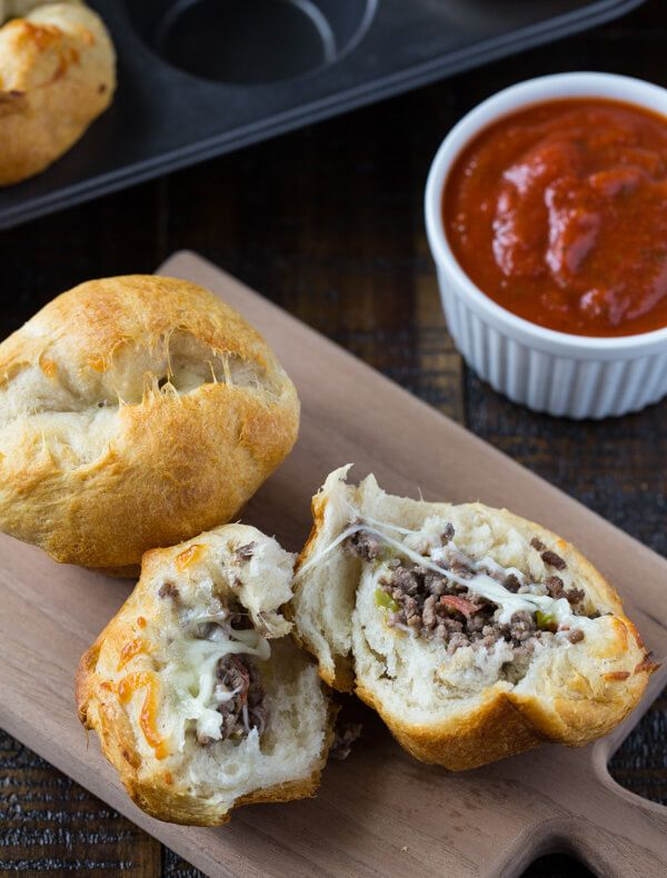 Stuffed Pizza Popovers - find buscuits without yeast.