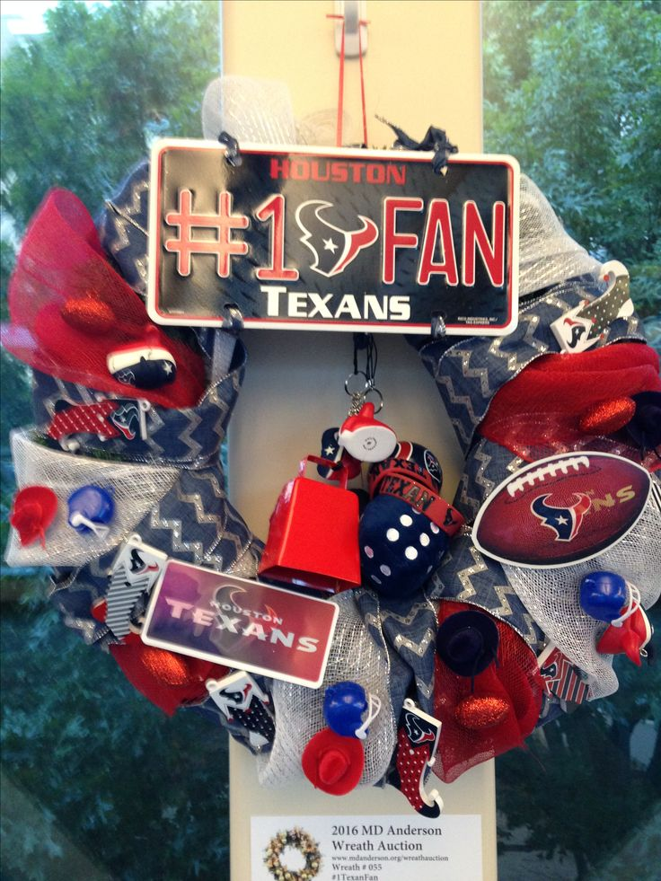 #1 Fan Wreath. This one done for Houston Texans