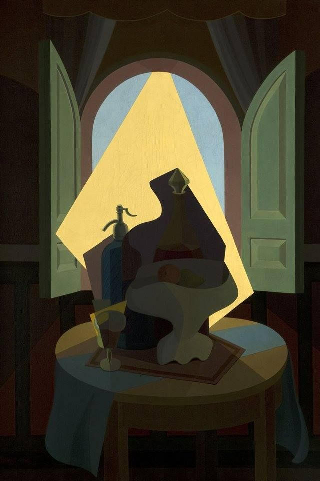 Emilio Pettoruti, Sol argentino o Intimidad, 1941. Óleo sobre tela, 98 x 67 cm. Museo Nacional de Bellas Artes, Buenos Aires