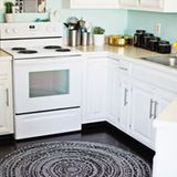 I have terrible blood circulation, which means my extremities are always freezing, especially my feet and toes. Hardwood floors in the winter hardly do them any favors. Area rugs — scattered across the house like lily pads in a frog pond — are my saving grace and a must for winter. Here are ten projects to DIY.