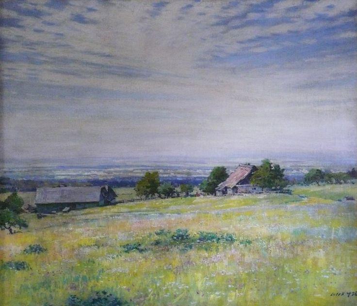 STANISLAV LOLEK (1873-1936)  LOUKA S VYSOKÝM NEBEM Summer landscape