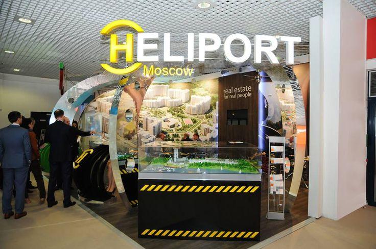 Stand HELIPORT on MIPIM 2014 Cannes #exhibitions #europeanexhibitions #buildup #gc_granat #design #bitionbooth