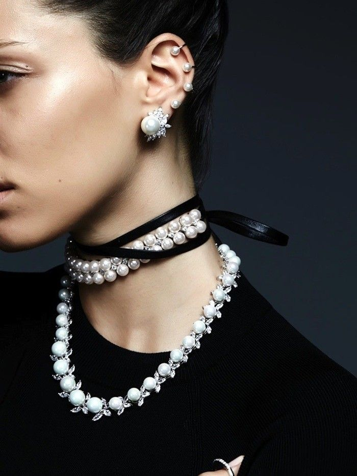 This Crazy Cool Jewelry Look Will Have You Rethinking Pearls