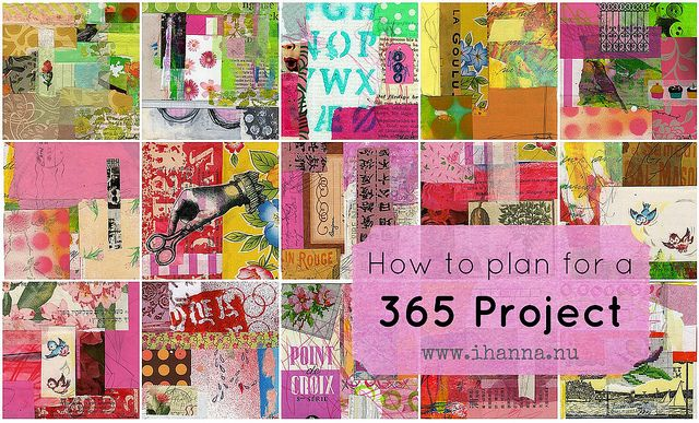 How to plan a 365 Project by iHanna of www.ihanna.nu #project #creativity