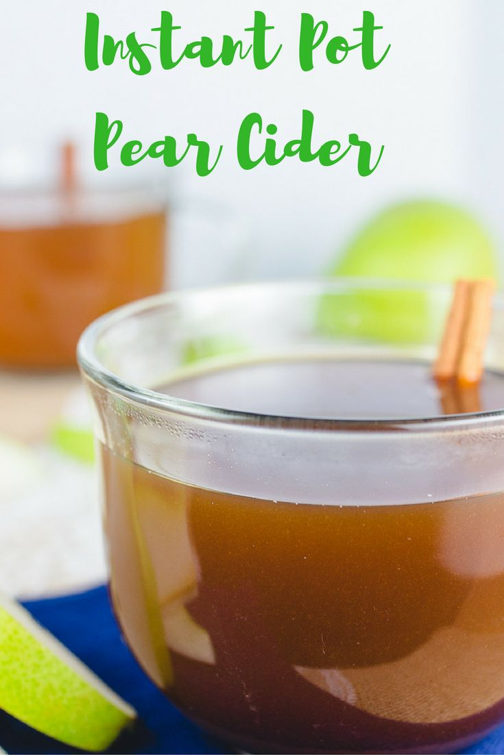 Need something quick and easy to warm you up this winter season? This instant pot pear cider is perfect for you