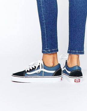 Vans - Old Skool - Baskets classiques - Bleu marine et bleu