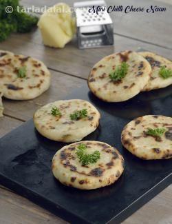 Mini Chilli Cheese Naan recipe | by Tarla Dalal | Tarladalal.com | #39578