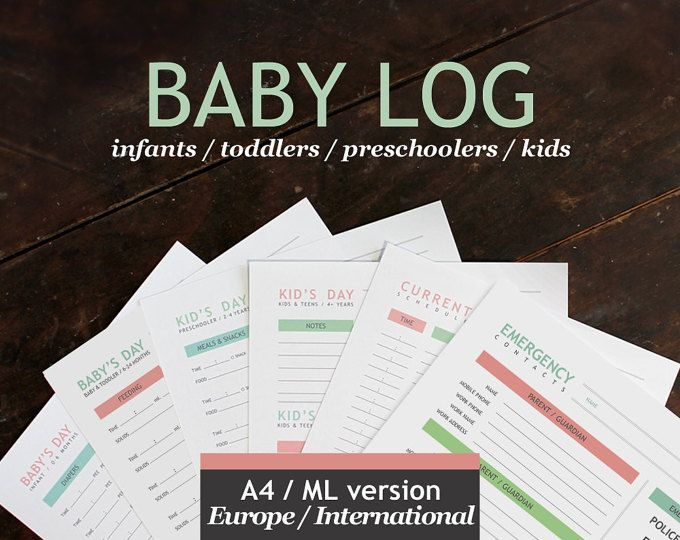 Nannies, baby-sitters and parents will love this recently redesigned printable Babys Day log! (Now including pages for older kids, too!)  Its important to keep the doors of communication open between caretakers and parents and this packet will help do just that.   ----- ITEM DETAILS -----  8.5x11 (standard American printer paper size) Baby Log  This instant digital download includes a single .PDF file NOW WITH 6 PAGES:  • 0-6 MONTHS - BABYS DAY LOG: Keep track of diapers, feedings, naps…