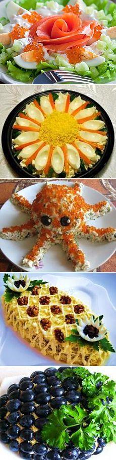 Салаты на день рождения - праздничные рецепты с фото на e-salat.ru