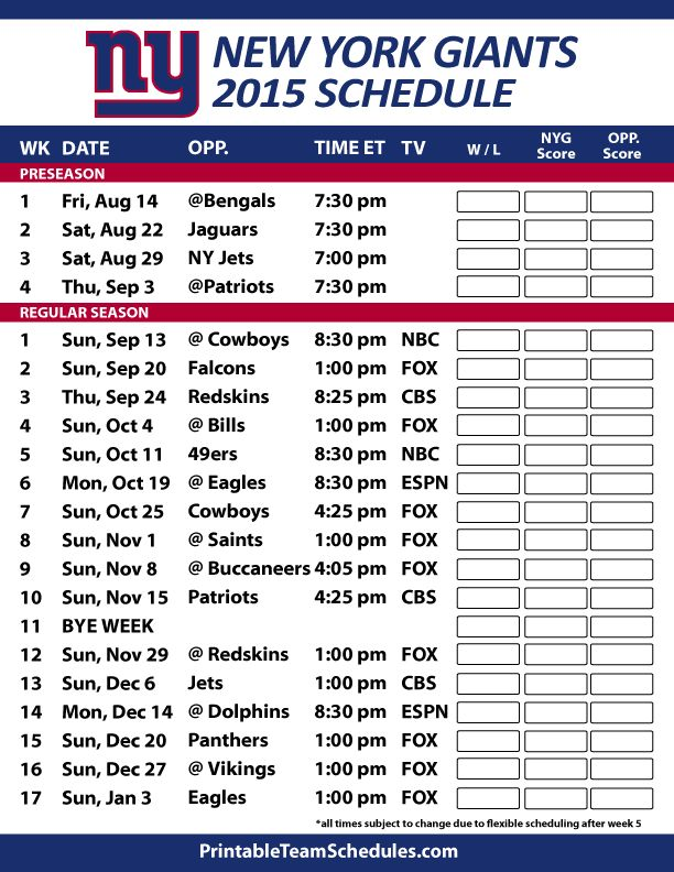 dallas cowboys new york giants schedule images