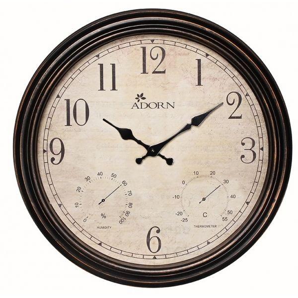 Shelbourne Indoor and Outdoor Weatherproof Garden Clock & Weather Station 40cm in Garden & Patio, Garden Ornaments, Other Garden Ornaments | eBay