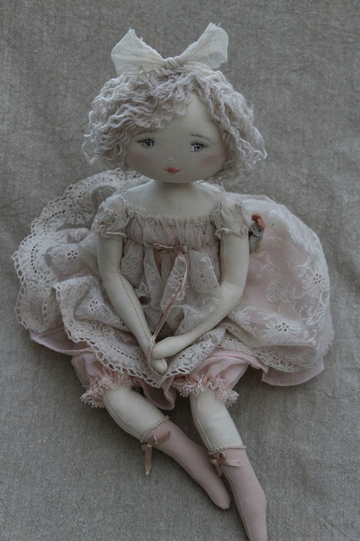 Мелузину ... ET SES bottines розы ... (35см) - Le Jardin Des Farfalous