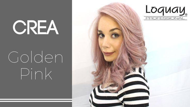 Uno de los #tintes más hermosos el golden pink  #loquay#cabello#pink#golden#tinte