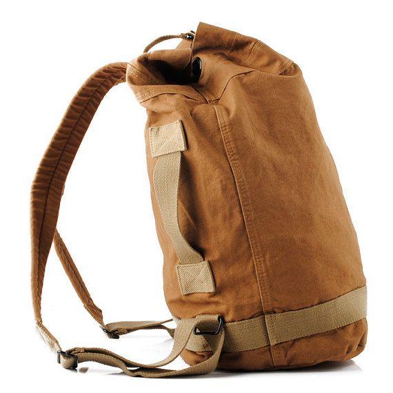 Cotton HOT Streets Travel Canvas Backpacks Satchels Shoulder Bag Khaki SCotton NEW