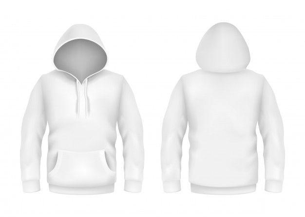 Download Moletom Com Capuz Branco Modelo De Maquete 3d Realista Sobre Fundo Branco Hoodies Sweatshirts Hoodie Hoodie Template