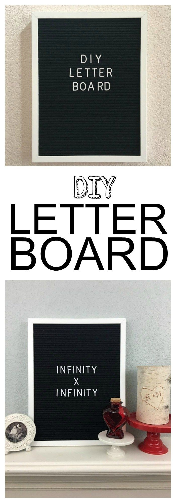DIY letter board by jolly and happy