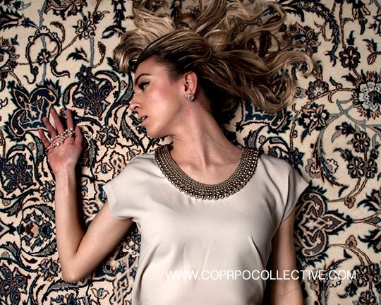 "www.corpocollective.com... silk top, DVF; earrings, HOLT RENFREW; ""effervescence"" necklace, LINKS OF LONDON MODEL: Katie Aquila STYLIST: Asha Binti Kingombe (clothing courtesy Holt Renfrew) PHOTOGRAPHY: Zac Pantalone HAIR: Dana Stefanelli MAKE-UP: Andreé Beaudoin"
