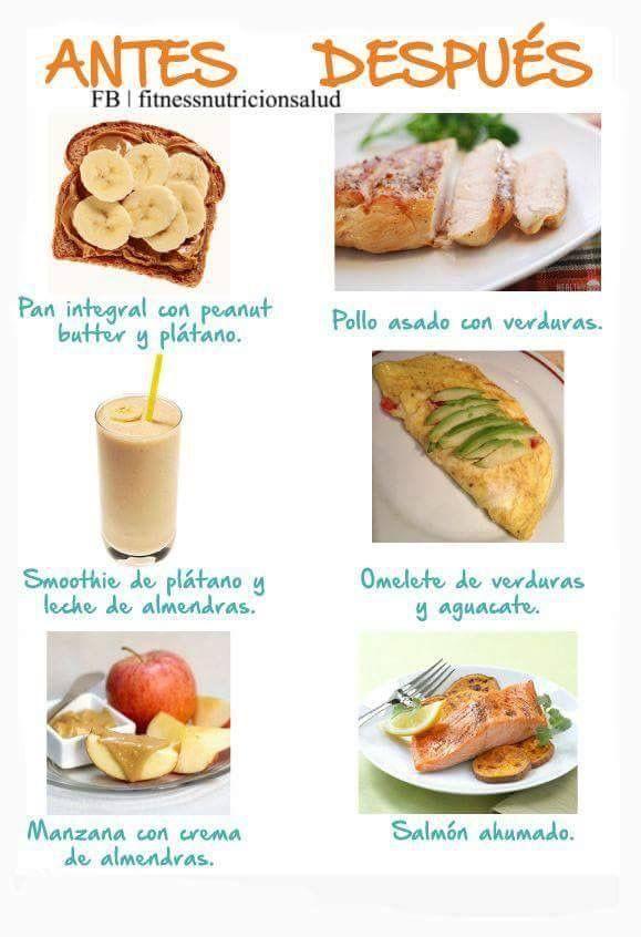 ¿Qué comer antes y/o después entrenar?