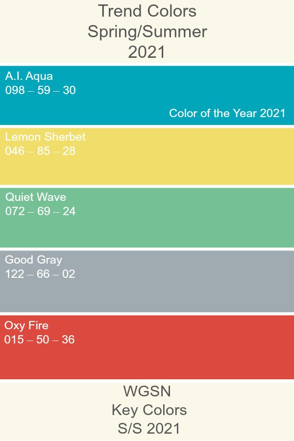 trend colors 2021 ss21 trendcolor keycolors wgsn on 2021 color trends for interiors id=60086