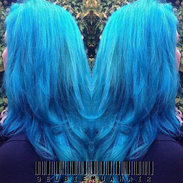 Mermaid Rainbow Teal Hair done by me.