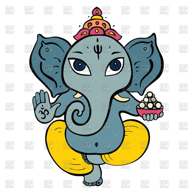 Royalty Free Vector image of Cartoon Hindu God Ganesh #51386 includes graphic collections of ganesh, ganesha and Plants and Animals. You can download this image clipart in EPS and JPG format. #vectorart #vectorclipart #vectorstock #graphicdesign #diseñográfico #graphisme #grafikdesign #графическийдизайн