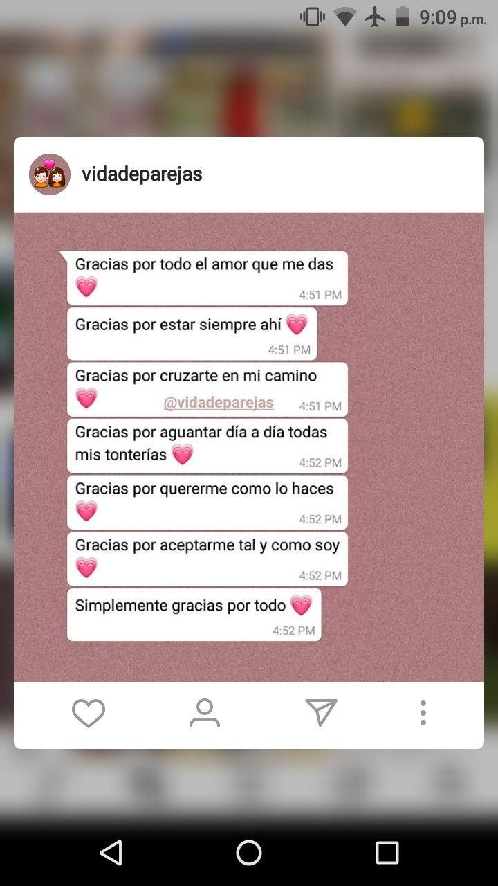 Gracias X Todo Mensajes De Texto Románticos Mensaje De Texto Frases Bonitas