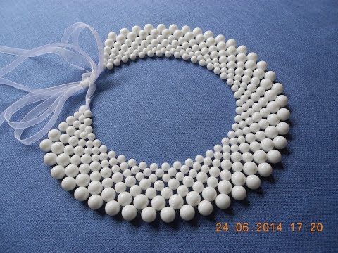 """Мастер-класс Воротник из бусин """"Капучино""""/DIY: The collar of beads """"Cappuccino"""" - YouTube"""