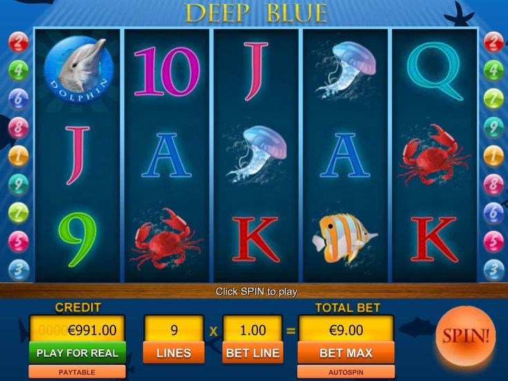 Deep Blue - Viaden - http://freeslots77.com/deep-blue-viaden/ - You might have played many virtual slot game designed on an underwater theme, but free Deep Blue online slot developed by Viaden Gaming has something extra for you. The 5-reel and 9-payline slot comes with transparent reels with bubbles in the backdrop. As the name suggests, you will find a mix...