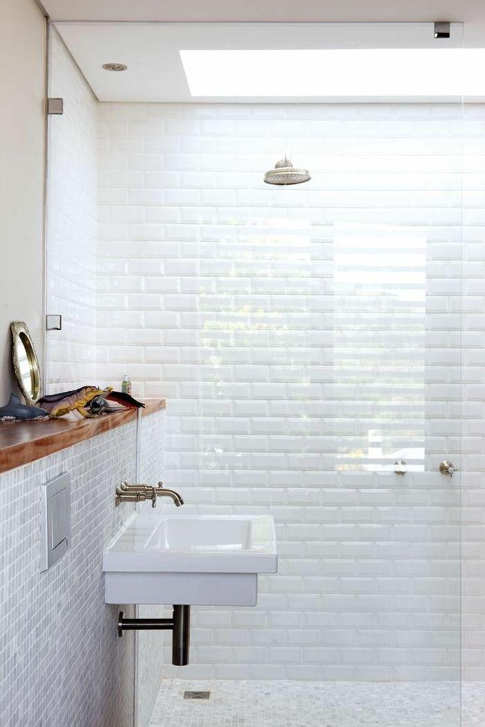 D corer la salle de bains avec un vier c ramique un and - Decorer salle de bain ...