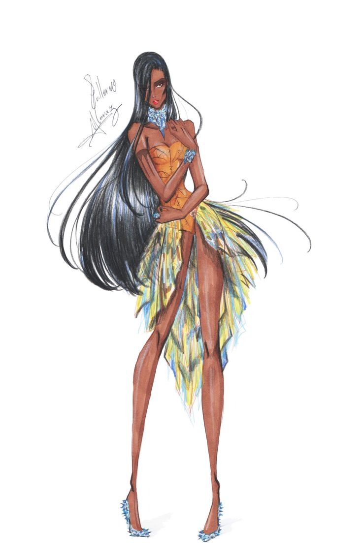 Fashion Pocahontas by frozen-winter-prince.deviantart.com