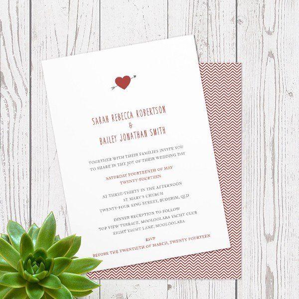 SCARLETT HEART - WEDDING INVITATION