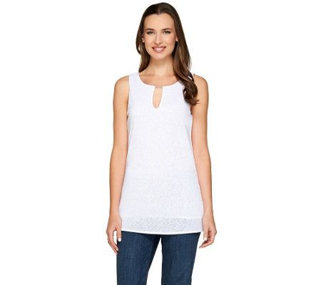 Kelly by Clinton Kelly Layered Tank with Beaded Detail