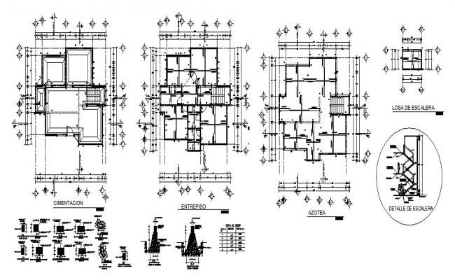 Foundation Plan Of Residential House Design With Detail Dimension In Autocad Floor Plans Autocad How To Plan