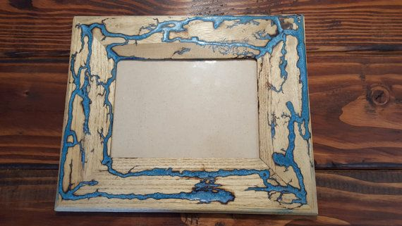Lichtenberg / Fractal Art / Blue Glow In The by PhoenixSparkShop