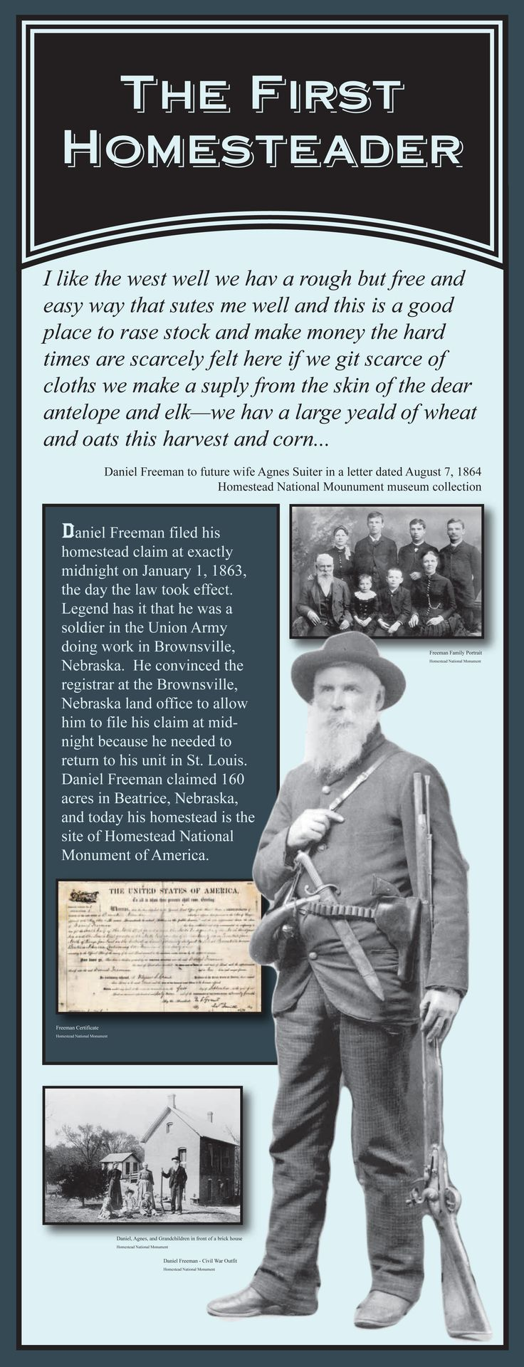 Homestead Act | Homestead Act 150th Traveling Exhibit - Homestead National Monument of ...
