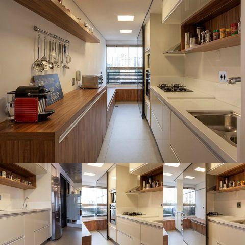 Cinco escritórios de arquitetura apresentam projetos lindos de cozinhas estreitas e contam as soluções de arquitetura empregadas