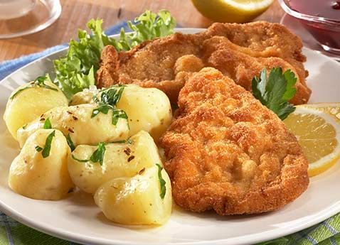 Wienerschnitzel!  This classic recipe comes to us from Austrian Master Chef Toni Mörwald, proprietor of Vienna's Michelin-starred restaurants Relais & Châteaux. It is traditional, simple to make, and delicious