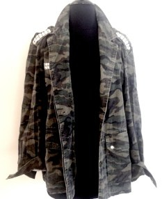 ids camo stud jacket just in $79.95   threads and style