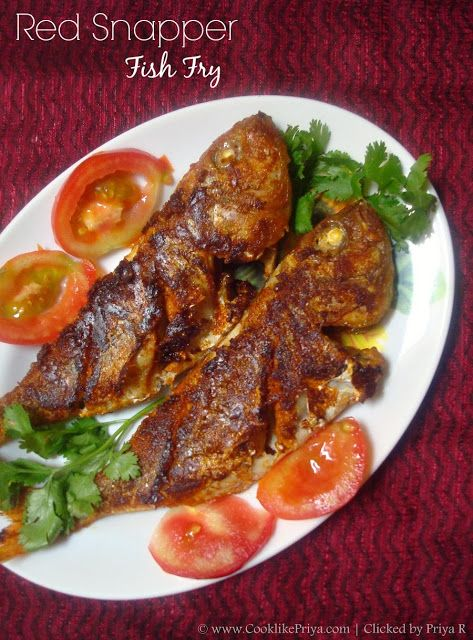 Red snapper fish fry sankara meen varuval south indian for What to eat with fried fish
