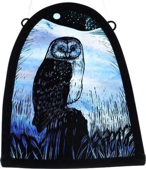 Owl Stained Glass - Tamsin Abbott