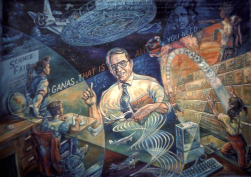 Ganas, that is all you need, public mural, Los Angeles, 1989 :: Library Exhibits Collection