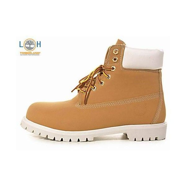 White Top Khaki Men Timberland 6 Inch Boots LA9996 ❤ liked on Polyvore featuring men's fashion, men's shoes, men's boots, men's work boots, mens boots, mens work boots, timberland mens boots, timberland mens work boots and mens white boots