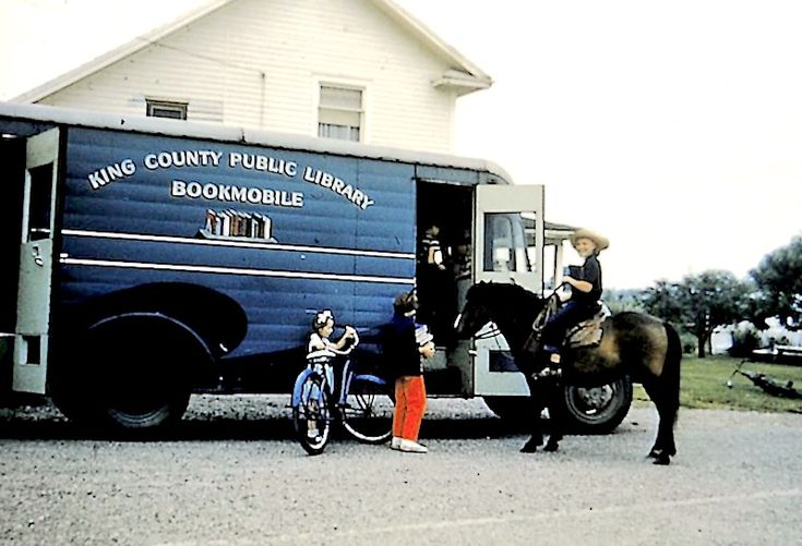 One of the book trucks in King County, Washington. In 1950 alone, patrons borrowed from the bookmobiles 286,000 volumes!