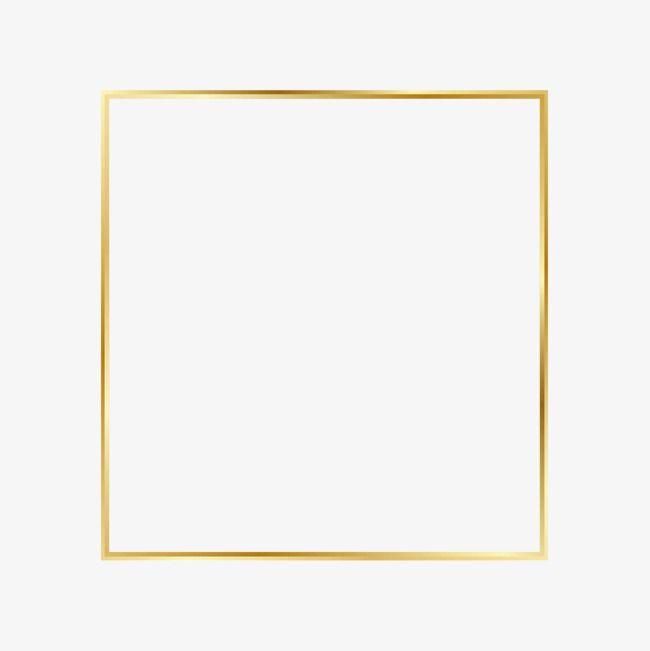 إطار مضيئة ذهبي الإطار إطار ذهبي خطوط بسيطة Png وملف Psd للتحميل مجانا Frame Clipart Clip Art Easy Frame