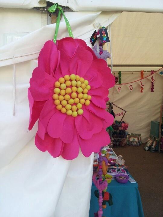 Giant felt flower